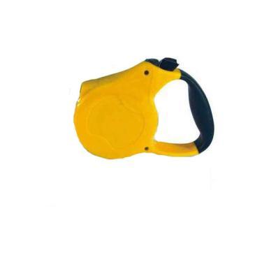 Guia Retrátil Chalesco Emborrachada de Corda Amarela para Cães até 15 Kg - Tam. Único