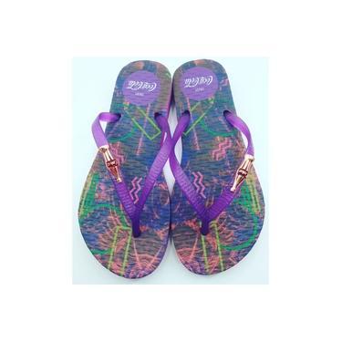 Chinelo Coca-Cola Shoes Feminino Adulto Tropical Wave CC3003