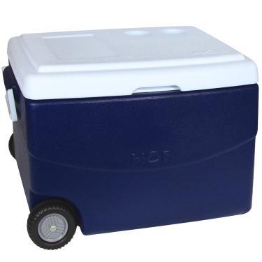 Caixa Térmica Glacial 70 Litros Azul Com Rodinhas - Mor 1023287