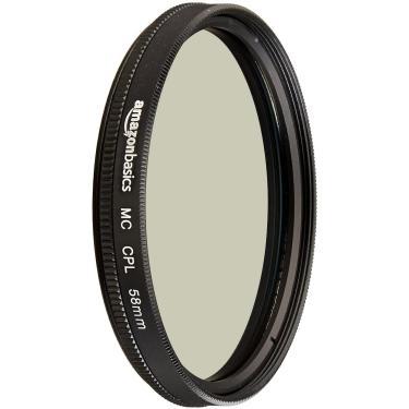 Imagem de Filtro de lente da câmera polarizadora circular amazonbasics - 58 mm