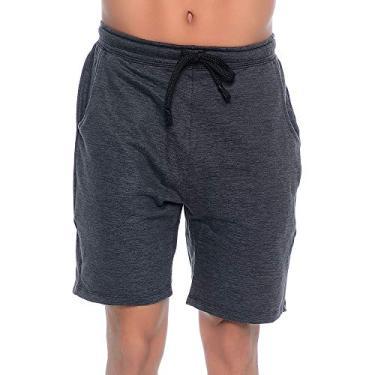 Shorts Moletinho Heavy Cor:Chumbo; Tamanho:GG