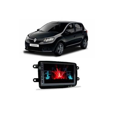 Central Multimídia Renault Sandero 2014 a 2021 Espelhamento iOS Android 7 Polegadas BT USB