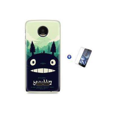 Kit Capa Case TPU Moto Z Play - Meu Amigo Totoro + Pel Vidro (BD30)
