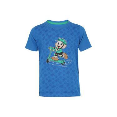 7dda0964c Camiseta Oxer Cebolinha - Infantil - AZUL Oxer