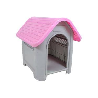 Casinha De Cachorro Plástica Mec Desmontavel N.3 Rosa