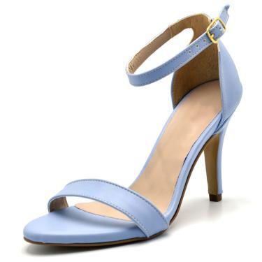 Sandália Salto Fino Gisela Costa Azul Serenity  feminino