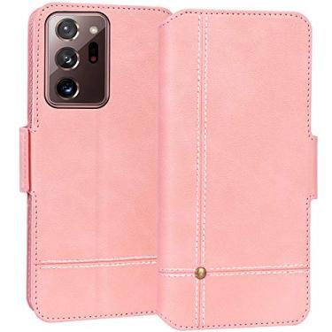 """Capa FYY para Samsung Galaxy Note 20 Ultra 6,9 polegadas, capa carteira de couro PU ultrafina com [função de suporte] e [compartimentos para cartão], capa flip para Galaxy Note 20 Ultra 6,9"""" Cor-de-rosa"""