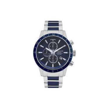 3833b0e39a4 Relógio Technos Prateado Masculino Classic Cerâmica JS15FJ 1A