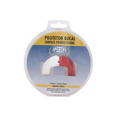 5a8d3e05c9 Protetor Bucal Punch Dual Color - Adulto - BRANCO VERMELHO Punch