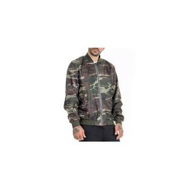 Jaqueta Bomber Premium Camuflada Verde Militar Masculina OFFERT