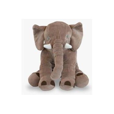 Imagem de Almofada Elefante Pelúcia 60cm para bebê - 6 cores Toybrink