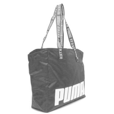 Bolsa Puma Tote Shopper Prime Street Large Fem 075409-01, Cor: Preto/Branco, Tamanho: ÚNICO  feminino
