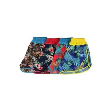 kit 5 Shorts Praia Feminino Mauricinho Tactel Preço de Atacado