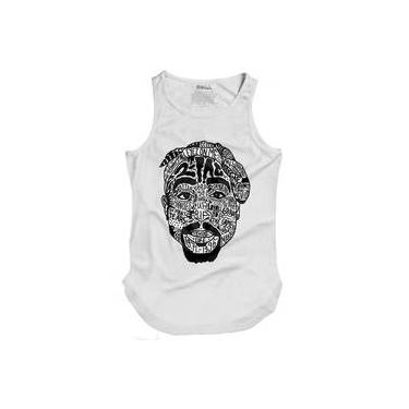 Camiseta Masculina Regata Longline Tupac Tattoo