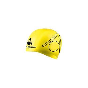 Touca de Silicone Aqua Sphere Triathlon   Amarela-Preta 4fc422bb7a8