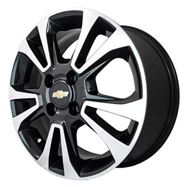 Imagem de Jogo de Rodas Chevrolet Prisma Aro 14 x 6,0 4x100 ET45 R42 Preto Diamantado
