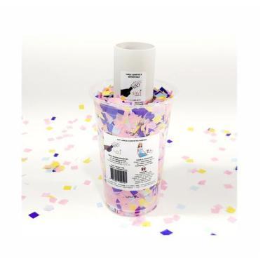 Imagem de Kit Lança Confetes Tema Barbie Seda Biodegradável No Copo 50G - Faz 90