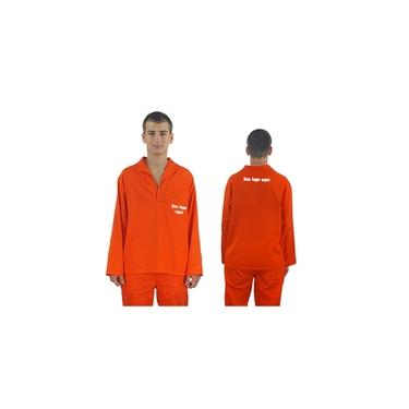 Camisa Brim Manga Curta Laranja
