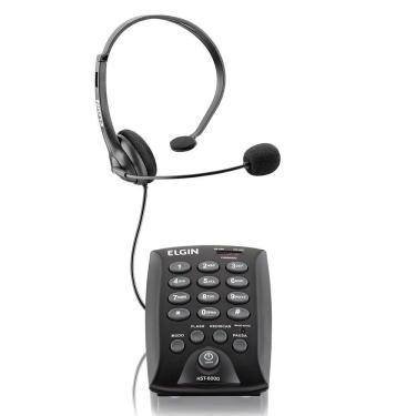 Elgin Telefone Headset HST-6000 Paratelemark. Comfio
