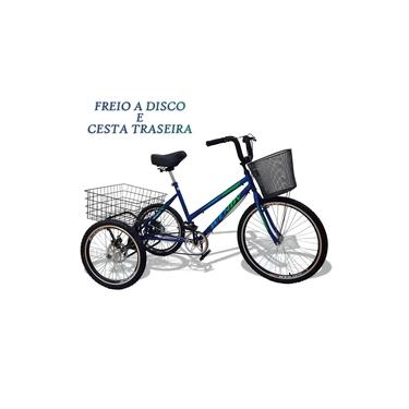 Bicicleta Triciclo Deluxe Wendy Aro 26 Completo Azul