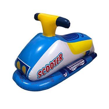 Boia Infantil de Piscina Bote Jet Ski Inflável Summer Fun Cor:Azul