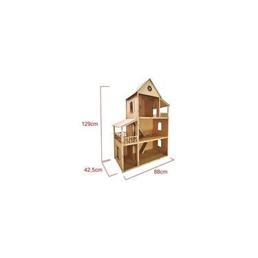 Imagem de Casa para Boneca Barbie Desmontada 129x88x42,5 Mdf Madeira