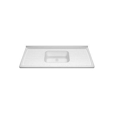 Pia Cozinha 1,20 X 54Cm Granito Branco