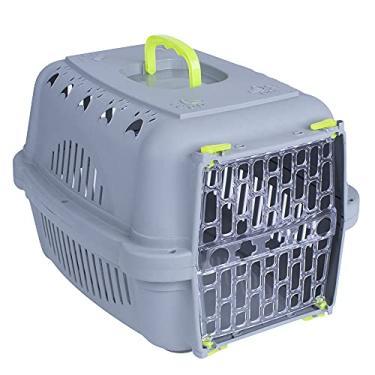 Caixa De Transporte Pet N 2 Para Cães e Gatos Durapets Neon Cor:Amarelo