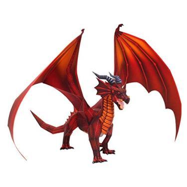 Imagem de FRETE GRATIS Quebra Cabeça 3D Animal Mistico Dragão Colagem Papercraft - HAS BRASIL