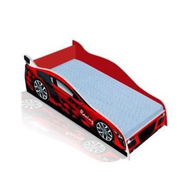 Cama Solteiro   Cama Carro Speedy Racing New 188x88 cm - Vermelha Vermelho  - RPM 4f4eea286935d