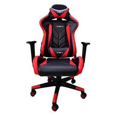 Cadeira Gamer para Computador Racer-X Modelo Rush Reclinável (Vermelha)