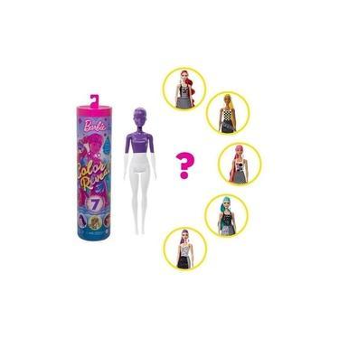 Imagem de Boneca Barbie Color Reveal Monocromática 7 Surpresas Mattel