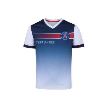 68a54877f5 Camiseta PSG 2018 Paris Bomache - Infantil - AZUL ESC BRANCO Bomache
