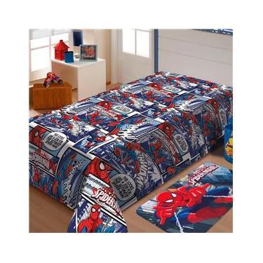 Manta Spider Man Soft Jolitex 1,50 X 2,20M Solteiro - Estampado