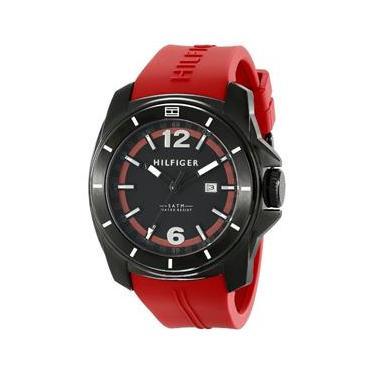 a7cf39ab605 Relógio Tommy Hilfiger Masculino 1791112 Red Rubber Quartzo