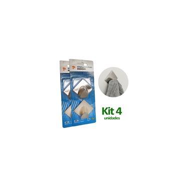 Kit 4 Ganchos De Parede Inox Cabide Cozinha Suporte Adesivo