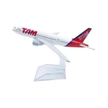Imagem de Miniatura Aviao Boeing 777 Tam Aeronave Comercial Airplane