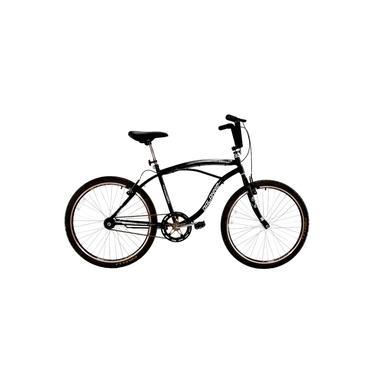 Imagem de Bicicleta aro 26 Masculina Beach Comfort Guidão Alto Sem Marcha Preta