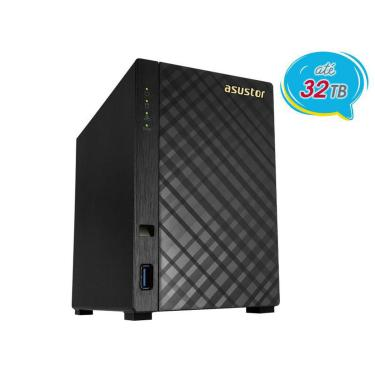 Sistema De Backup Nas Asustor As1002t V2  Marvell  Armada 385 1.6 Ghz 512mb Ddr3 Torre 2 Baias
