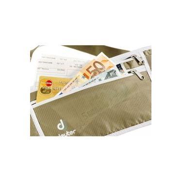Pochete para Viagem Slim Deuter Security Money Belt Areia