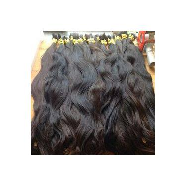 Imagem de cabelo humano natural virgem para mega hair