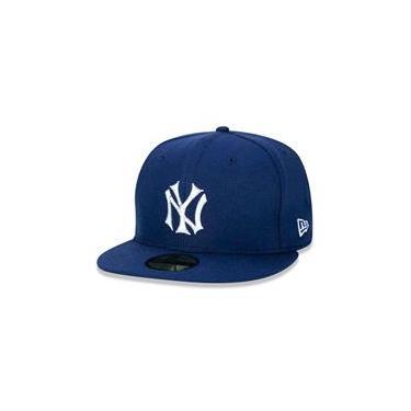Bone 59Fifty New York Yankees Mlb Aba Reta Marinho New Era