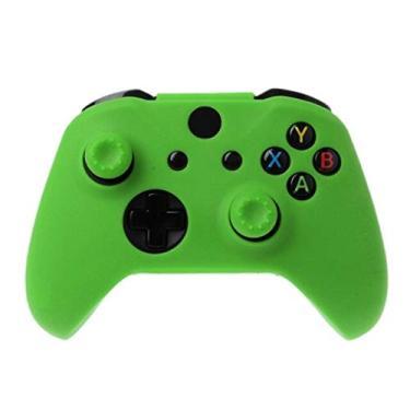 Capa Silicone Pele Protetora Controle Case Proteção de Qualidade Premium Sony Xbox One X S Fat Xbox One Série X S PRONTA ENTREGA BRASIL (Green)