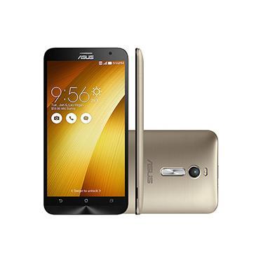 """Imagem de Smartphone Asus Zenfone 2 Dual Chip Desbloqueado Android 5.0 Lollipop Tela 5.5"""" 16GB 4G Wi-Fi Câmera 13MP - Gold"""