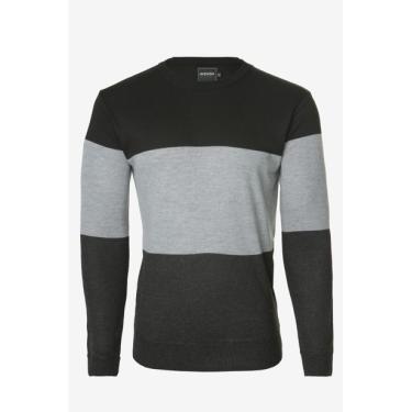 Suéter Listrado Preto Avenida