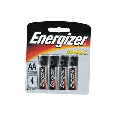 Pilha Energizer AA (LR6 - Pequena) - Cartela com 4 unidades