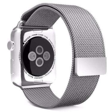 Pulseira Milanese Para Apple Watch Series 1 2 3 4 38Mm Prata