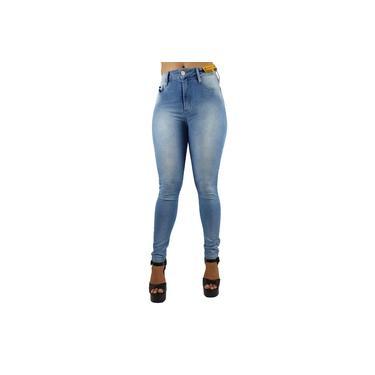 Calça Jeans Skinny Feminina Super Lipo Azul Claro Sawary