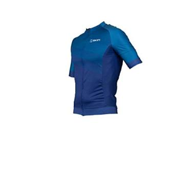 Camisa Ciclismo Uniforme Oggi Skin Manga Curta Woom Supreme (Azul Skin, G)