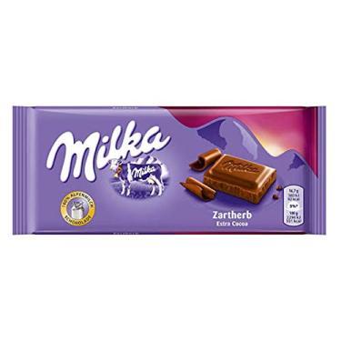 Milka Extra Cocoa - Chocolate Meio Amargo - Importado da Polônia